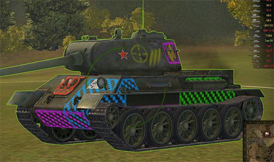 Зоны пробития танка в World of